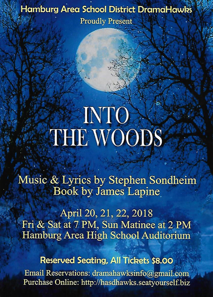Into the Woods April 20-22